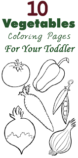 Top 10 Free Printable Vegetables Coloring