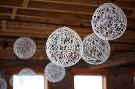 balloon string chandelier