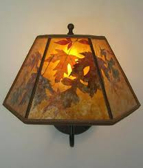 mica chandelier for s213 amber mica lamp shade with autumn leaves brass wall sconce 36 mica