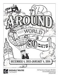 Around The World In 80 Days Coloring Page By Ensemble Theatre