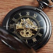 17 best images about pocket watches antiques details about mechanical black skeleton steel chain wind up mens pocket watch aussie stock