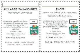 round table code round table pizza printable s deals