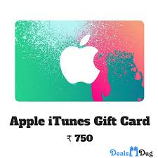apple itunes gift card india inr 750