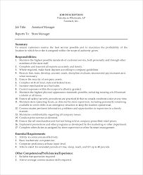 Sample Manager Job Description 9 Examples In Pdf Word