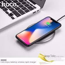 Shop bán Đế sạc không dây đa năng sạc nhanh chuẩn Qi cho iphone X , iphone  8, Note8 Hoco CW3