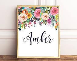 Small Picture Baby name wall art Etsy