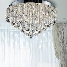crystal ceiling light fixtures flush mount new design led crystal chandeliers home light chandelier flush mount