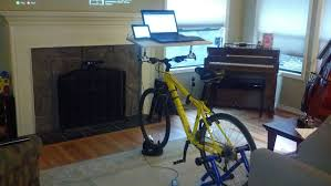 picture of handlebar desk in 20 minutes
