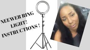 Easy Tutorial How To Put Neewer Ring Light Together