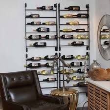 bottle wall ladder wine rack  wine enthusiast