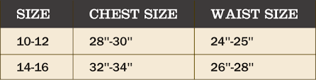 Ghillie Suit Size Chart 5 Piece Youth Ghillie Suit