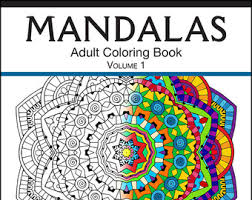 Small Picture Mandala coloring book Etsy