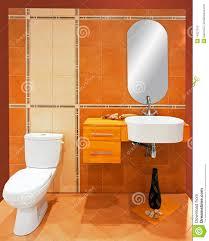Orange Badezimmer Stockbild Bild Von Fliesen Restroom 14227013