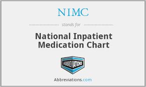 National Inpatient Medication Chart Nimc National Inpatient Medication Chart