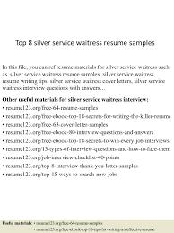 Example Of Waitress Resume Resume Example Of Waitress Resume 24
