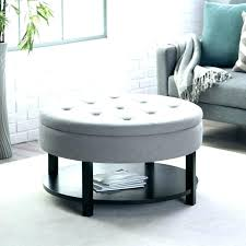 round tufted coffee table ottoman storage furniture diy of america dining