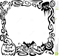 black frame. 1387x1300 Halloween Border Cliparts Black Frame