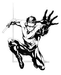 free nightwing coloring pages free nightwing coloring pages nightwing coloring page