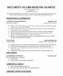 Security Guard Resume Objective Security Guard Resume Example Pointrobertsvacationrentals 46