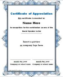 30 Free Certificate Of Appreciation Templates Free