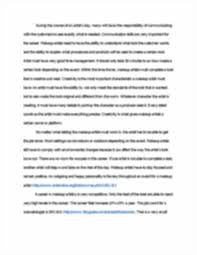 makeup artist career essay nya williams mr cureton eng  sign up to access the rest of the document