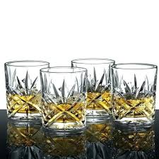 crystal whiskey glasses set of 4 scotch drinking bourbon liquor bar glassware glass cut whisky decanter