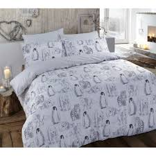 brushed cotton winter animals duvet cover reversible w pillow cases king size 264833 p5543 15272 image jpg