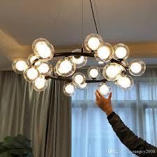 magic bean modern led pendant chandelier lights for living room dining room g4 gold black white glass chandelier lamp fixtures pendant lights ceiling