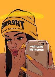 Instagram Supreme Girl Wallpaper Cartoon
