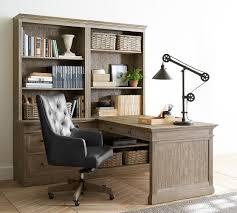 Office desks with storage Cabinet Livingston Peninsula Desk Office Suite Ginnys Modular Office Furniture Pottery Barn