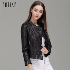 fashion autumn winter women faux leather jackets on zippers coat female flying motorcycle rivet jacket coats