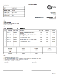 Po Template Delivery Note Packing Slip Template Sample Po