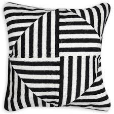 Bargello Windmill Black And White Throw Pillow | Throw Pillows | Jonathan  Adler
