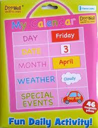 Doowell Activity Charts Doowell My Calendar Pink Small