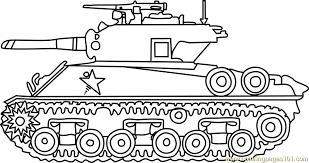Small Picture M4 Sherman Army Tank Coloring Page Free Tanks Coloring Pages
