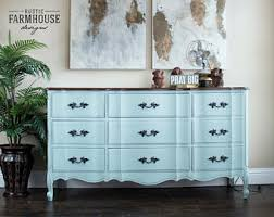 distressed blue furniture. French Provincial Dresser \u0026 Nightstand, Blue Dresser, Vintage Painted Furniture, Hand Distressed Furniture I