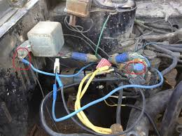 brat electrical q s old gen 80 s gl dl xt loyales this large blue wire is grounded to the frame and has a male connector i have no idea where it goes the mostly black wire is spliced into another black