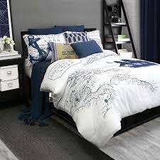 com alamode home shelburne queen full duvet cover set navy white nautical home kitchen