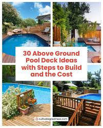 above ground pool deck ideas with steps