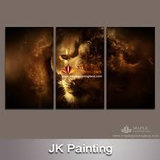 hot 3 piece canvas art unstretched wall decor canvas lion painting canvas pictures for living room modern wall decor canvas art