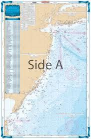 New Jersey Coastal Fishing Chart 55f