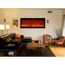 touchstone 80004 sideline recessed wall mounted black electric fireplace