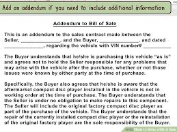 3 Ways To Write A Bill Of Sale Wikihow