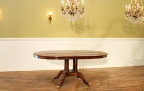 48 inch round to oval walnut and yew banded dining table leaf