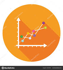 Trending Graph Trending Graph Marketing Research Concept Stock Vector
