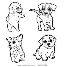 Coloring Pages Cute Dogs Cartoon Dog Coloring Pages Cartoon Puppy