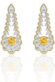 chopard red carpet collection 2016 yellow white diamond earrings jewels du jour