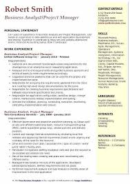 Project Manager Template Construction Cv Business Resume