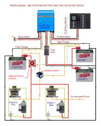twin engine, one starting battery, two house batteries adding a 3rd battery to a boat at 3 Battery Wiring Diagram