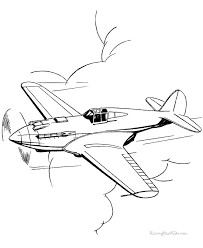 Wright Brothers Airplane Coloring Pages Planes Coloring Pages